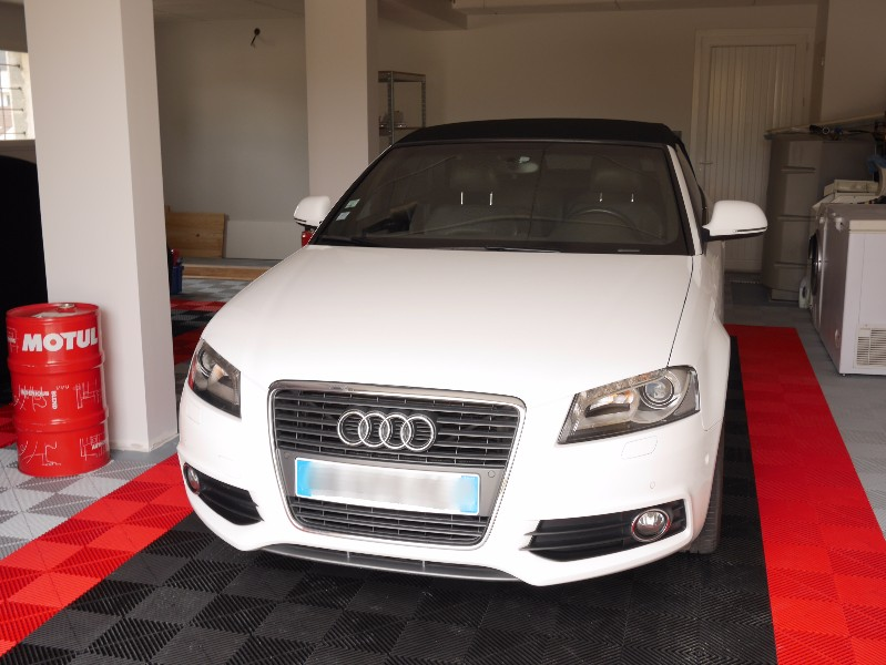 AUDI A3 CABRIOLET S-LINE 2.0 TFSI 200CV S-TRONIC BLANCHE